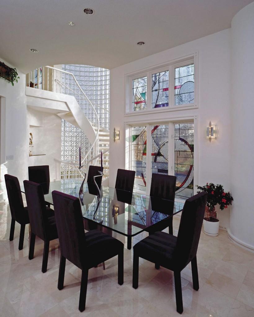 Designul acestei case particulare din Rochester, New York, a fost conceput de artista Nancy Gong.