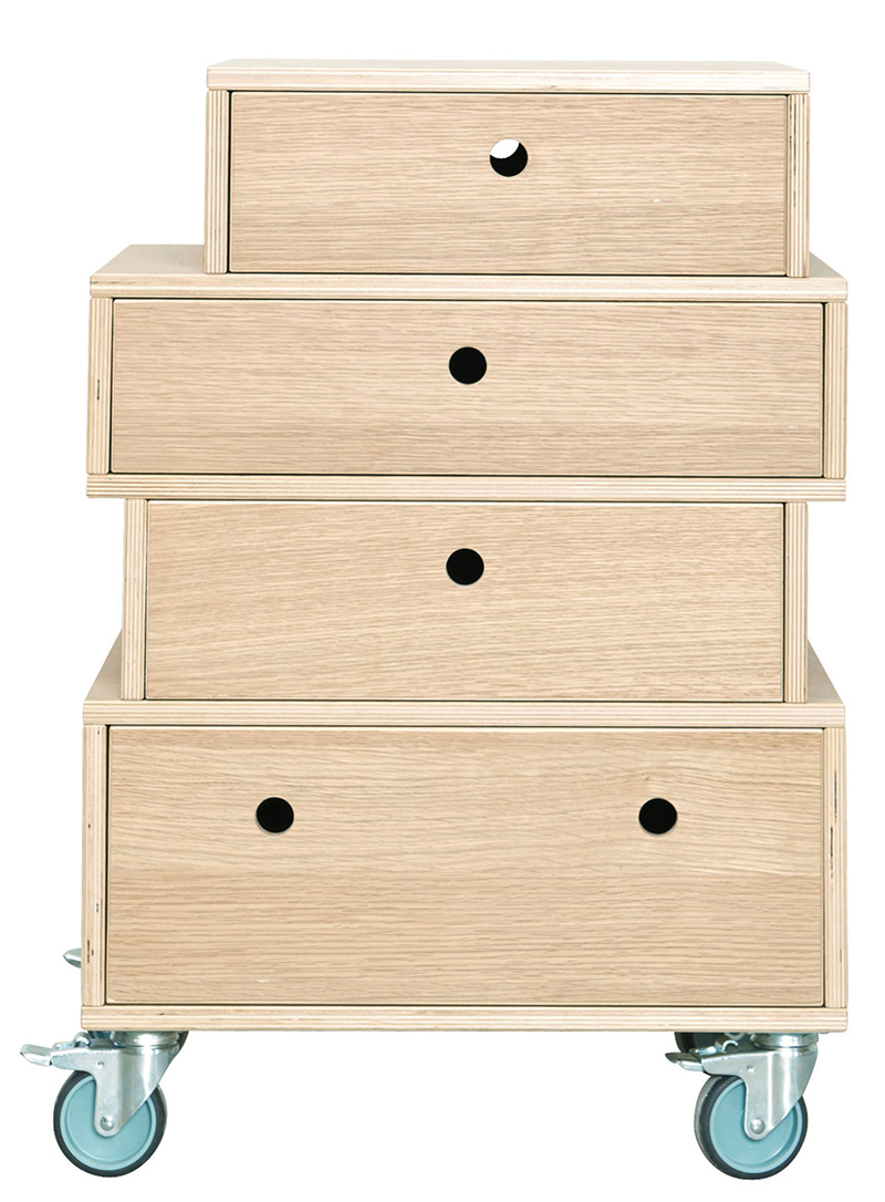 Made-in-design---Storage-unit---With-castors---4-drawers