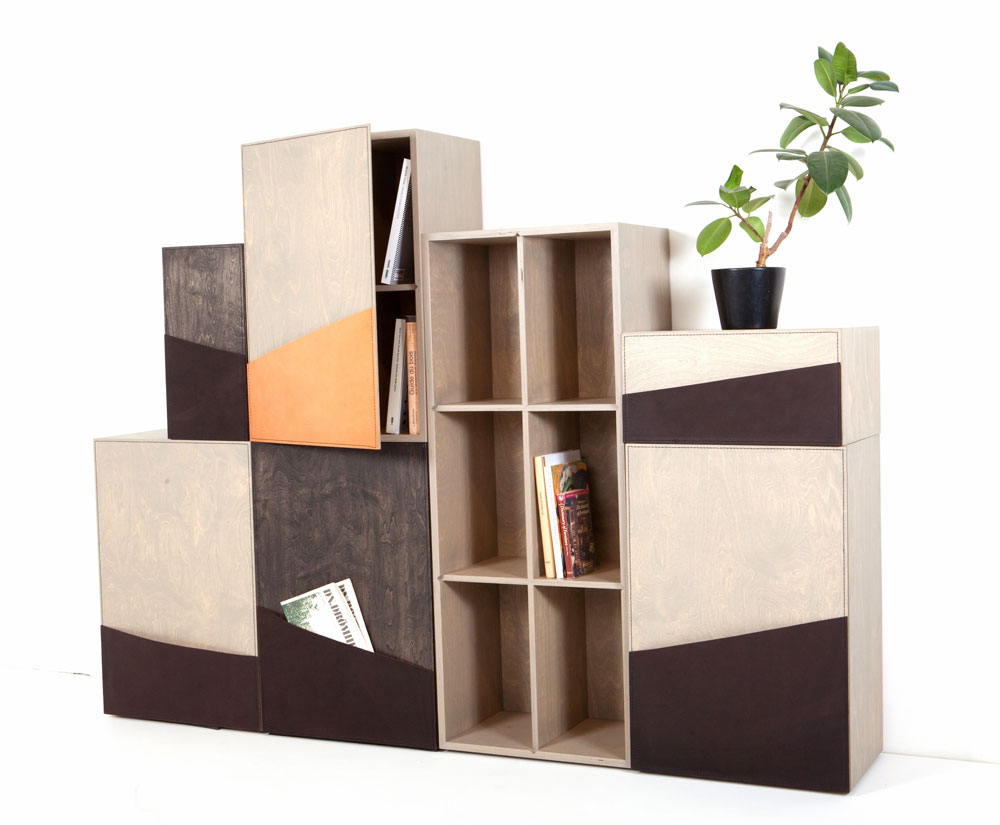 Biblioteca Pocket Cupboard_Färg și Blanche