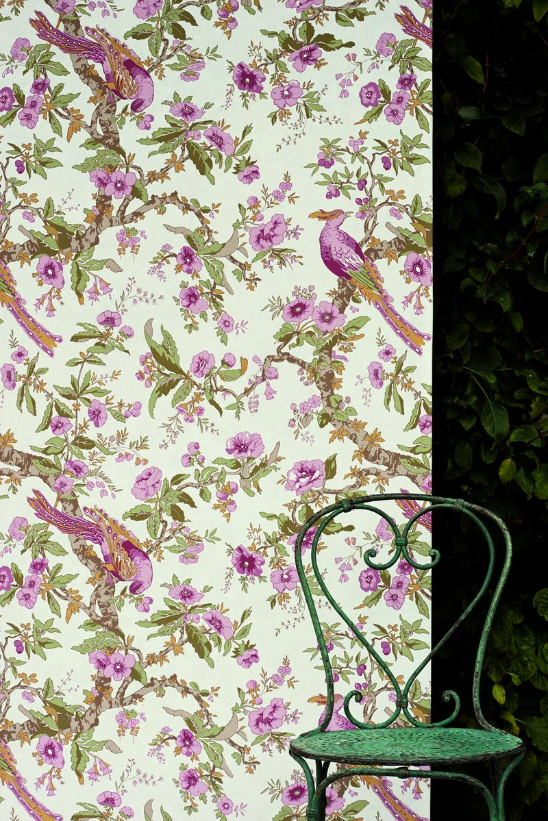 - doar tapetul - Zoffany La Maison Chintz Wallpaper detail_med