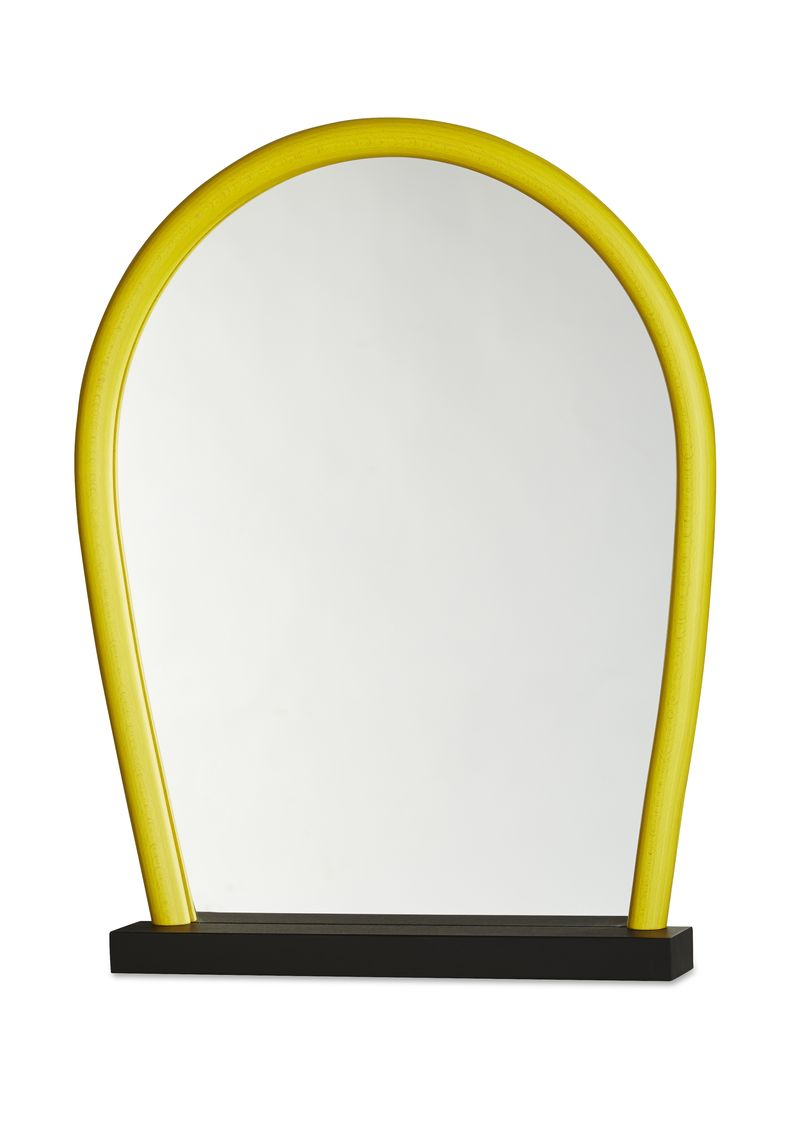 Intro Bent Wood Mirror black yellow